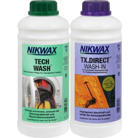 Zestaw Nikwax Tech Wash® + TX.Direct® Wash-In 2x1L (czyszczenie +impregnacja)