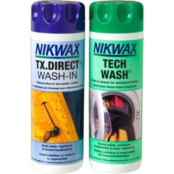Zestaw Nikwax Tech Wash® + TX.Direct® Wash-In 2x300ml (czyszczenie +impregnacja)