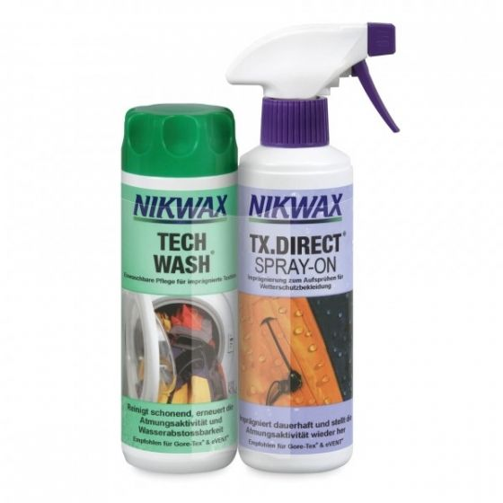 Twin Pack Nikwax Tech-Wash® + TX.Direct® Spray-On 2x300ml