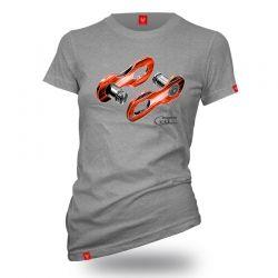 """T-shirt dla rowerzysty """"LINK SZARA"""" Damska"""