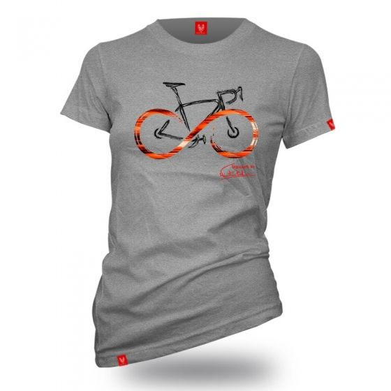 "Bike T-shirt ""INFINITY GREY"" Women - 1"