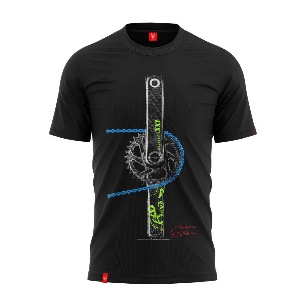 """Koszulka dla rowerzysty """"CHAIN BLUE&LIMON"""" Męska"""