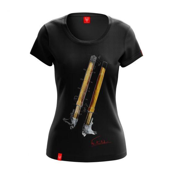 "Motorcycle T-shirt ""FORK"" Women"