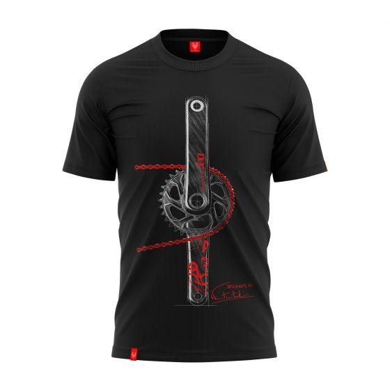 """Koszulka dla rowerzysty """"CHAIN RED"""" Męska"""