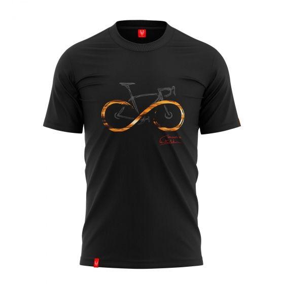 """Koszulka dla rowerzysty """"INFINITY BLACK"""" Męska"""