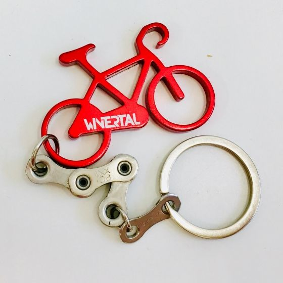 Keychain BIKE Red/Silver - 1