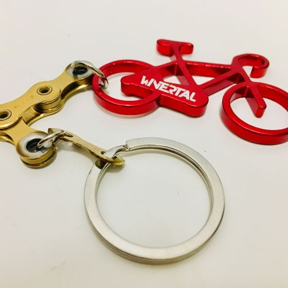 Keychain BIKE Red/Gold - 2