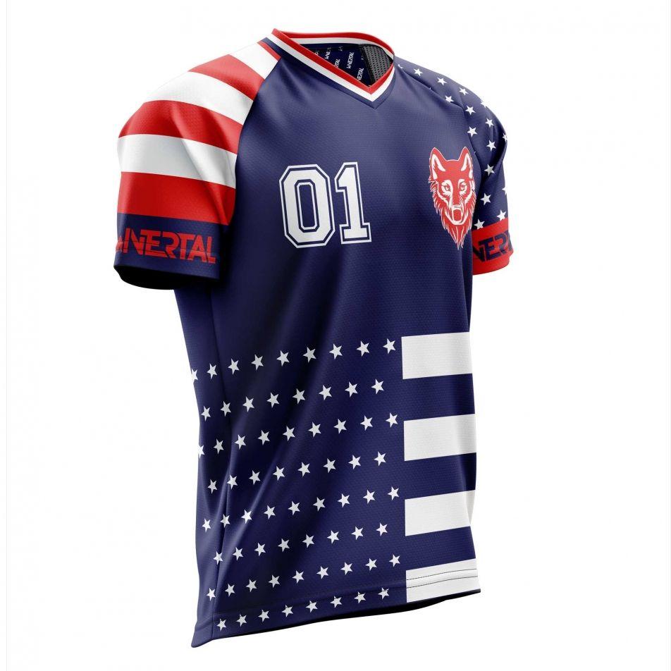 "Customized jersey ""AMERICANO"" short sleeve"