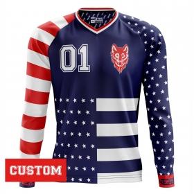 """Spersonalizowany jersey """"AMERICANO"""" długi rękaw"""