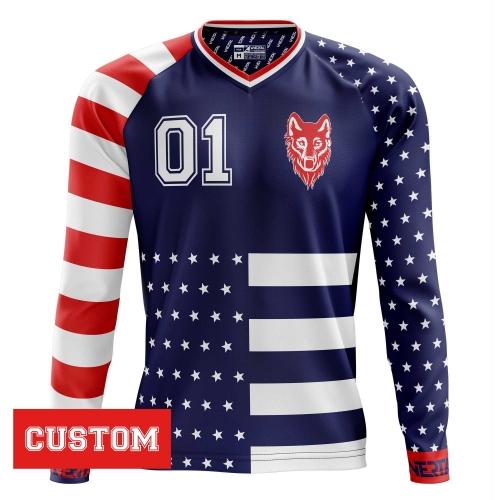 "Customized jersey ""AMERICANO"" long sleeve"