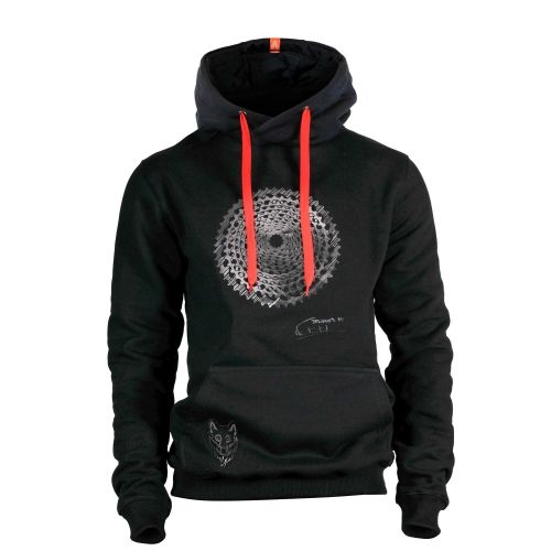 RACE CARBON BLACK METALLIC HOODIE | Men