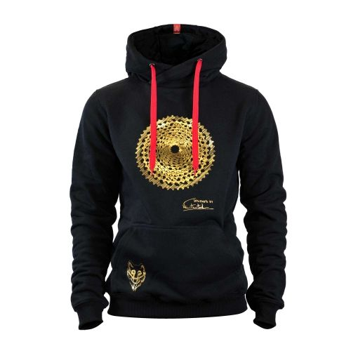 RACE GOLD METALLIC HOODIE | Men