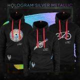 RACE HOLOGRAM SILVER METALLIC HOODIE   Men - 10