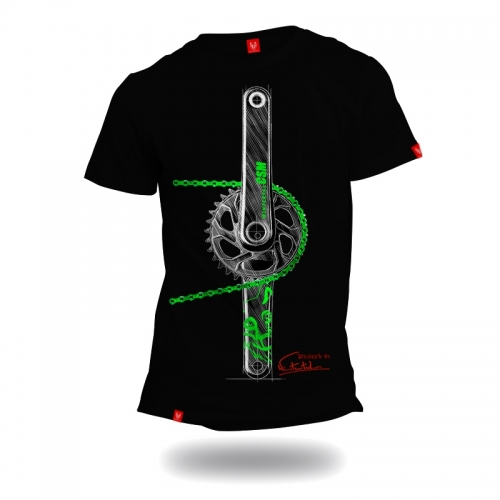 "Bike T-shirt ""CHAIN"" CUSTOM Man"